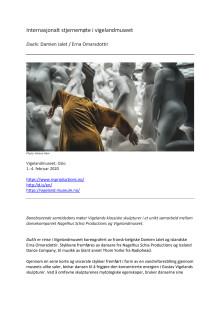 Pressemelding DuEls (Nagelhus Schia Productions) i Vigelandmuseet
