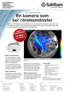 CCTV med Heat Map - En kamera som ser rörelsemönster