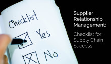 Checklist for enhancing your Supplier Relationship Management !