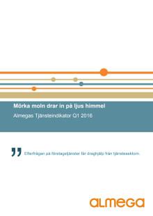 Almegas Tjänsteindikator 1kv 2016
