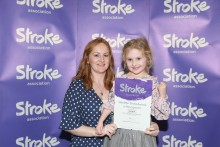 Five-year-old from Anglesey honoured after having a stroke at just one day old