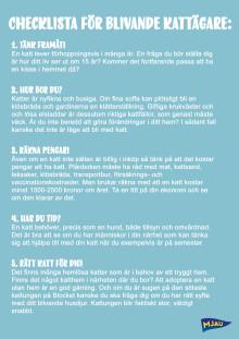 5 tips: Checklisa för blivande kattägare