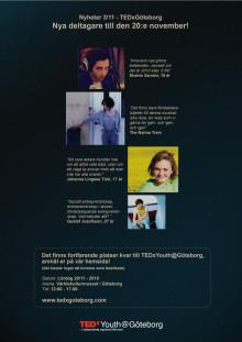 Fyra nya talare vid TEDxYouth@Göteborg