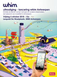 Persuitnodiging: Whim combineert mobiliteitsoplossingen in smartphone app én abonnement in Antwerpen.