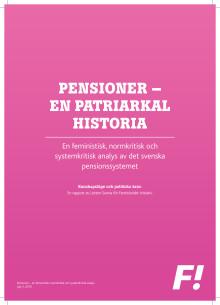Feministiskt initiativs Pensionsrapport 20160705