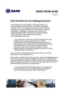 Saab_Årets_teknikkvinna_Karin_Nilsdotter_2014