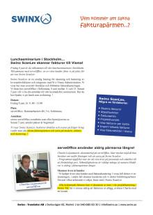 Lunchseminarie, Swinx ScanLev skannar fakturor till Visma