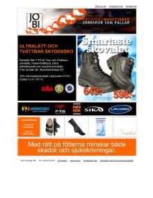 JOBI Nyhetsbrev Yrkes- och skyddsskor, november 2012