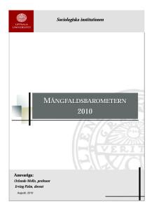 Mångfaldsbarometern2010Sammanfattning