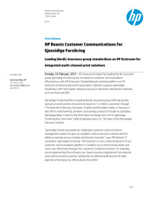 HP Boosts Customer Communications for Gjensidige Forsikring