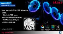 Universell färgsynkroniserande RGB LED-fläkt
