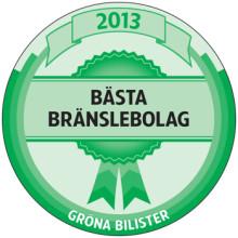 Gröna Bilister utser Preem till Bästa Bränslebolag 2013