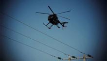 Årlig inspektion av elledningar med helikopter