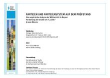 Rede der Vorsitzenden Ursula Männle bei der Vorstellung der Studie:  Parteien und Parteiensystem auf dem Prüfstand - Eine empirische Analyse der Wählersicht in Bayern