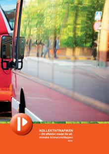 Folder: Kollektivtrafiken minskar klimatutsläppen