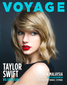 CloseUp interview with Taylor Swift for front cover story in Swedish lifestyle and travel magazine Voyage