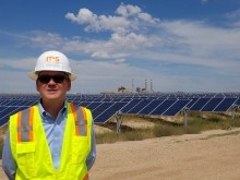 US Senator Michael Bennet Beams at Comanche Solar Project in Colorado