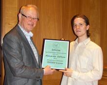 Rosenborg - Gehrmans Studiestipendium utdelat till Alexander Zethson