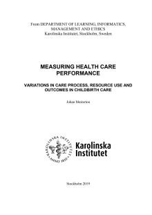 Thesis: Measuring health care performance