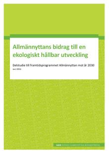 Allmännyttans bidrag till en ekologiskt hållbar utveckling