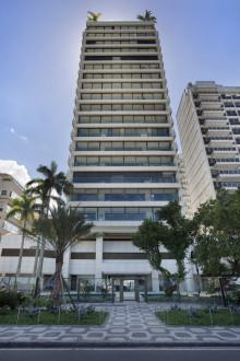 Cap Ferrat byggnaden i Rio de Janeiro med fasad utav Dekton® av Cosentino