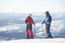 Keen interest in mountain holidays and skiing