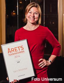 Vinnare av årets teknikkvinna 2014 ledamot i ABI styrelse