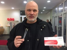 Santander Mitarbeiter veranstalteten DKMS- Registrierungsaktion