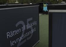 SÖDERTÄLJES KUB FÖR MÄNSKLIGA RÄTTIGHETER STÄLLS UT I KUNGSTRÄDGÅRDEN