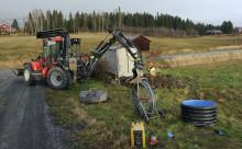 Övik Energi ansluter fastigheter på Dekarsön till bredbandsnätet
