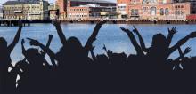 Kajfest för hela Malmö när Malmö universitet invigs