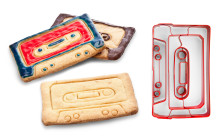 Kassettebånd kageform