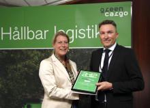 Infrastrukturministern överlämnade klimatintyg till Stena Recycling