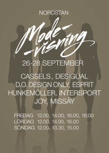 Nordstan Modevisning Höst 26-28 September 2014