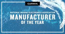 Prisregn över Garmin®  - utnämnd till årets tillverkare för tredje året i rad på NMEA-awards