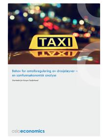 Behov for antallsregulering av drosjer