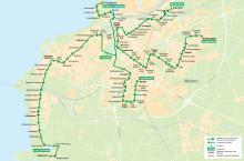 Linje 84 Malmö linjekarta