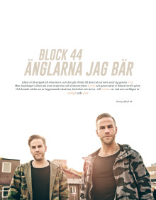 """BLOCK 44 """"Änglarna jag bär"""" släpps exklusivt som video idag!"""