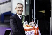 Bussbolag kör för att minst 1000 barn ska få äta sig mätta i jul