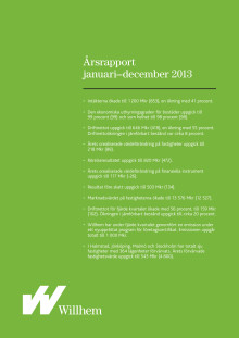 Willhem årsrapport januari-december 2013