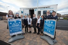 Paisley pupils get a lesson with fibre broadband