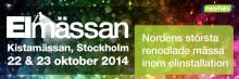 Energisystem ställer ut på Elmässan 22-23 oktober