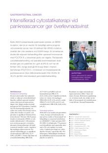 Gastrointestinal cancer - docent Jan-Erik Frödin rapporterar från ASCO 2010