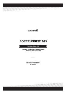 Produkt memo Forerunner 945