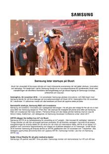 Samsung letar startups på Slush