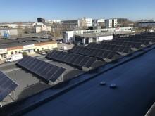 Kraftfull solcellspark på HSB Götas huvudkontor i Jönköping