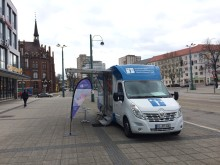 Beratungsmobil der Unabhängigen Patientenberatung kommt am 13. August nach Frankfurt (Oder). Zusätzlich wird es einen EUTB Info-Stand beim Mobil geben.