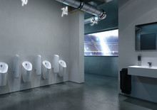 Geberit lanserar smartspolande urinal