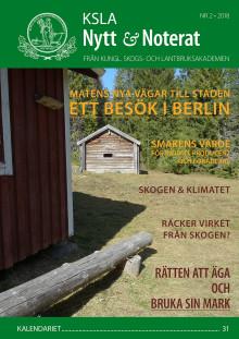 Ute nu: KSLA Nytt & Noterat nr 2-2018