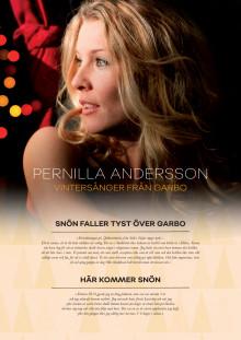 """Pernilla Andersson - """"Vintersånger från Garbo""""-textblad"""